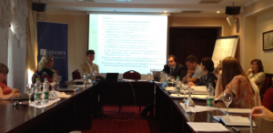 Photo from a training session on international arbitration organised by the CIS Arbitration Forum