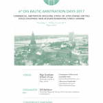 DIS Baltic Arbitration Days to Take Place in Riga on 1-2 June, 2017