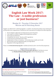 English Law Week 2017 to take place in Moscow and St Petersburg soon