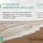 Registration for the 9th DIS Baltic Arbitration Days 2020 is open